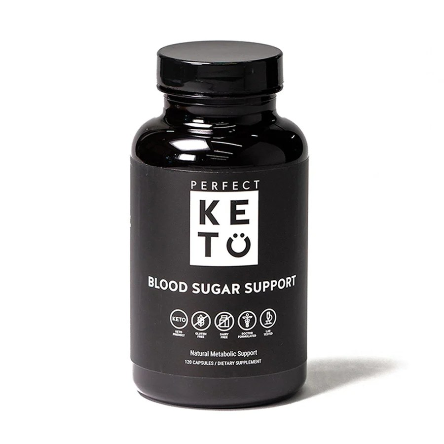 perfect keto blood sugar support capsules bottle