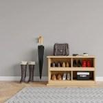 Solid Oak Shoe Bench Coat Rack With Shelf Kube Designs Ltd