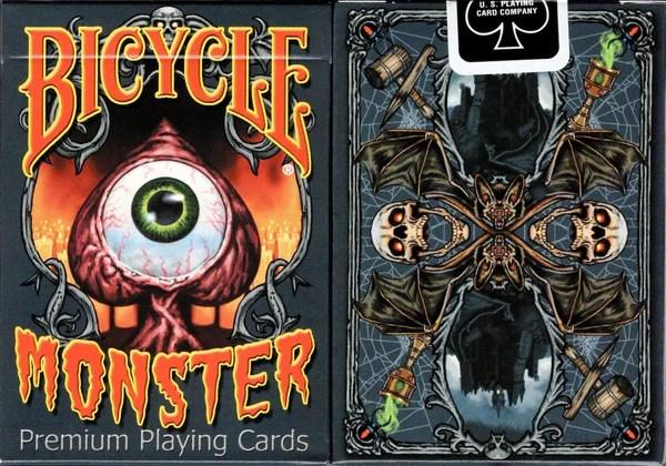 怪物自行車撲克牌