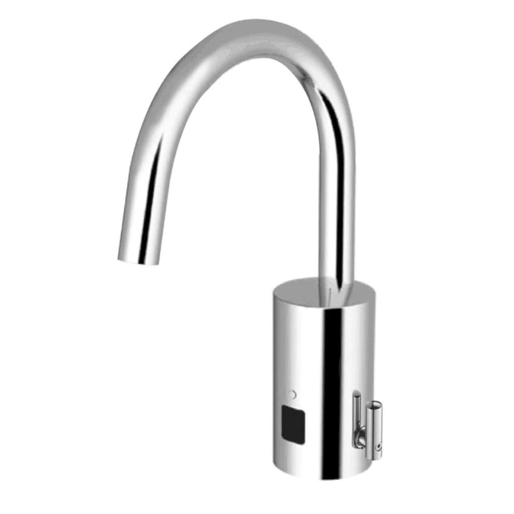 optima i q gooseneck faucet battery powered 1 5 gpm