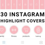 30 Instagram Highlight Icons Blush Pink And White Mimosa Designs