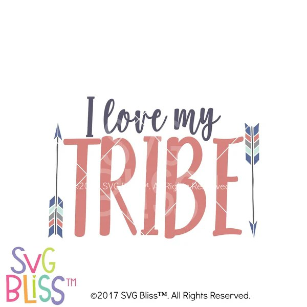 Download I Love My Tribe- SVG EPS DXF