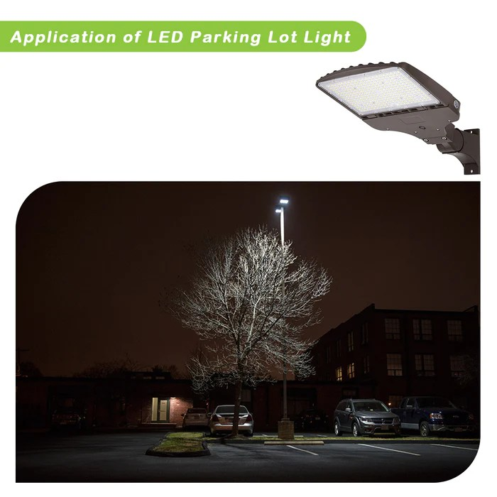 led parking lot lighting with photocell