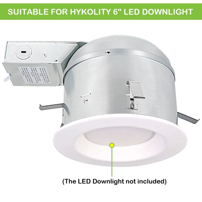6 inch remodel led light can airtight ic housing with tp24 connector for led recessed downlight retrofit kit etl listed 12pack