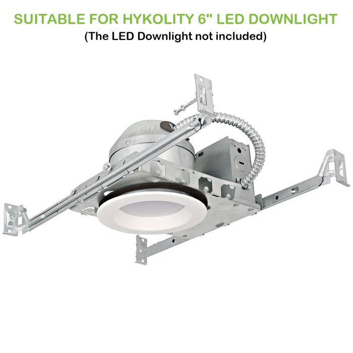 6 inch new construction recessed light can housing 12 pack shallow type airtight ic housing with tp24 connector for led downlight retrofit kit etl