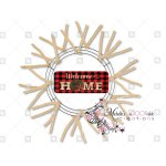 Welcome Home Red Black Plaid Christmas Sign Wreath Enhancement Michelle S Adoorable Creations