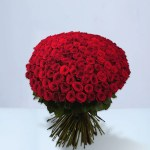 100 Red Rose Bouquet Crystal Roses London