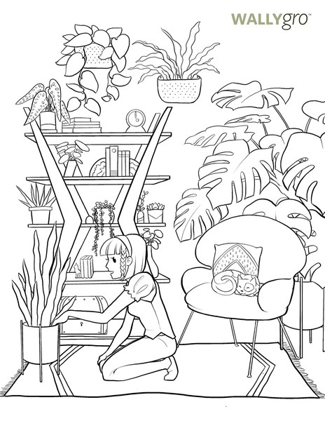 International Plant Appreciation Day Coloring Book Pages