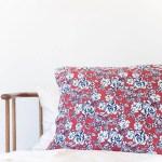 Dark Rust Navy Floral Pillow Case Cozys