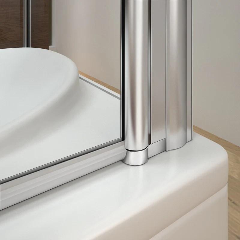 aica pare baignoire avec une paroi fixee l hauteur de 140cm ecran de douche en verre anticalcaire et securite differentes dimensions disponibles