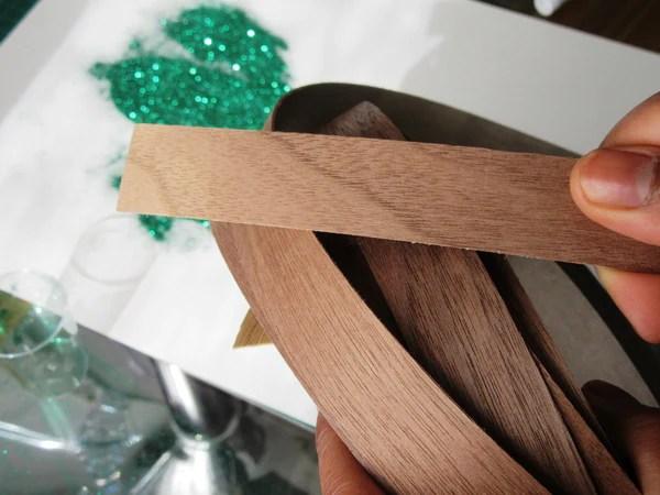 Rouleau de placage de bois thermocollant