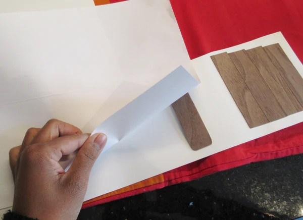 Placage bois sur papier