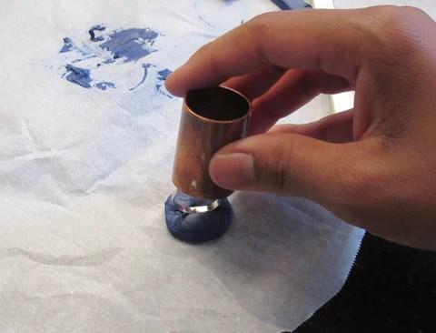 DIY Découpe pâte fimo bleue