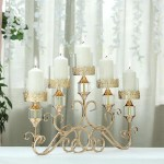 Candelabra Centerpiece Hurricane Glass Candle Holders Tableclothsfactory