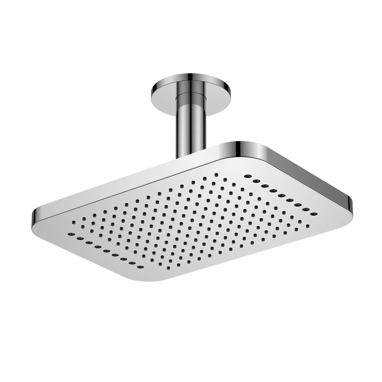 Dax Ceiling Mounted Square Rain Shower Head With Shower Arm Brushed Nickel Finish 12 1 4 X 11 16 Inches Dax B16 Bn