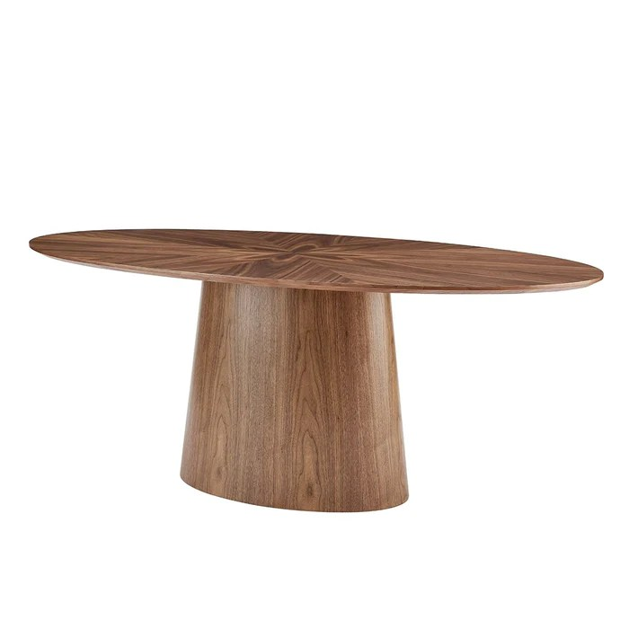 euro style deodat 79 oval dining table american walnut