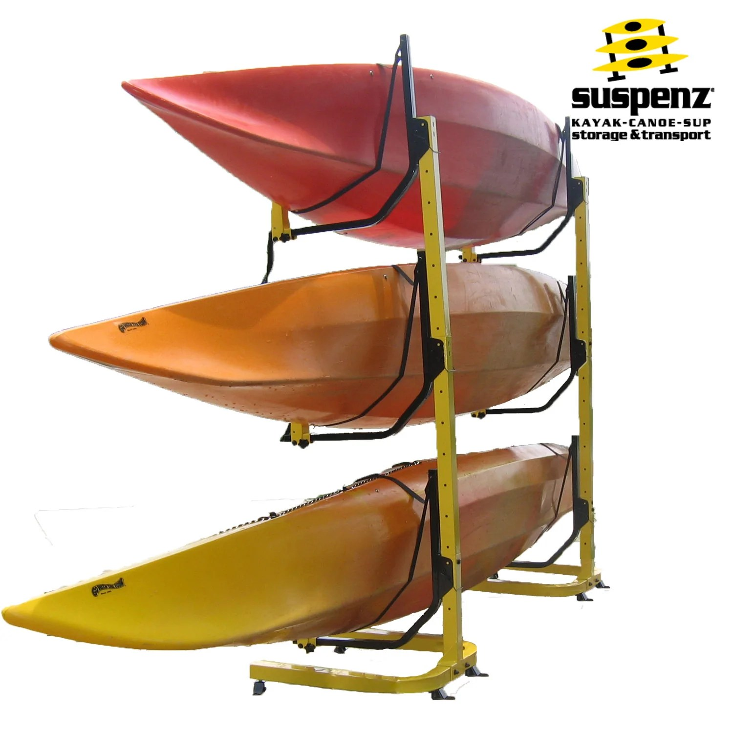 deluxe 3 boat free standing rack also available in black