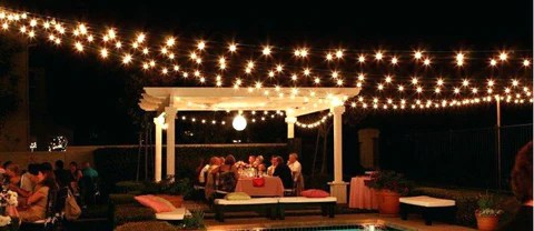 patio vintage style string lights