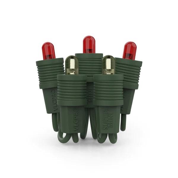 Red Tipped Christmas Light Bulbs