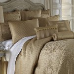 Anya Pale 4 Piece Gold Comforter Set By Waterford Latest Bedding