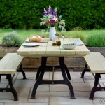 Assendon Millwright Iron And Wood Outdoor Garden Patio Dining Table The Good Shelf Company
