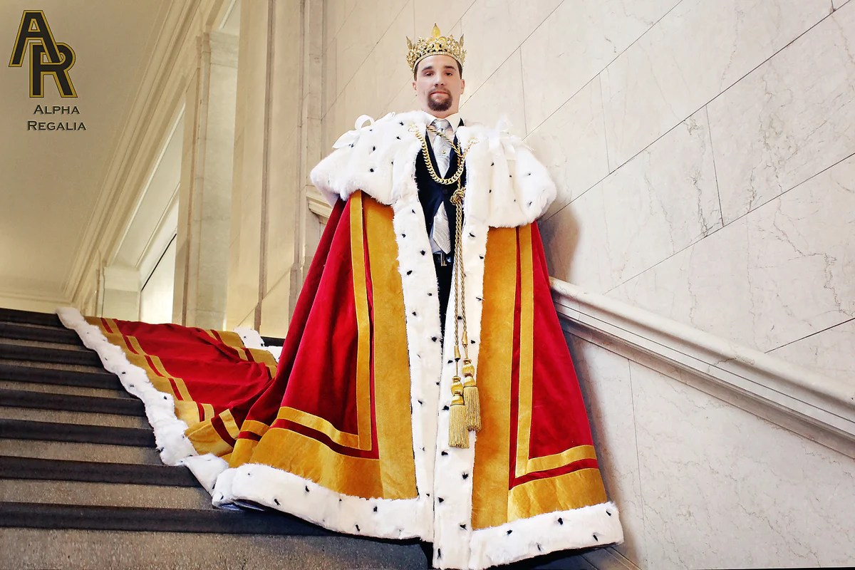 Sovereign Series King's Coronation Robe With Gold Trim And