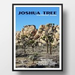 Joshua Tree National Park Poster Joshua Tree Springtime Just Go Travel Studios