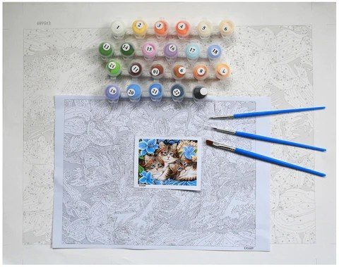 adult diy pbn my paint by numbers kit