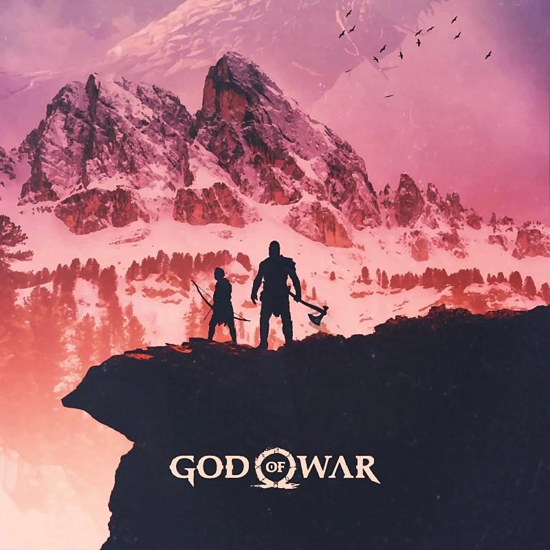 god of war kratos atreus poster