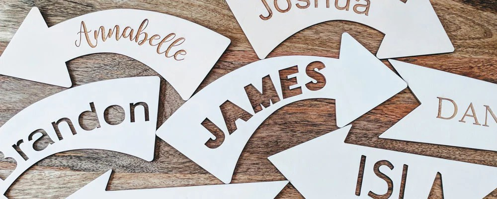 Personalised Wooden Arrows