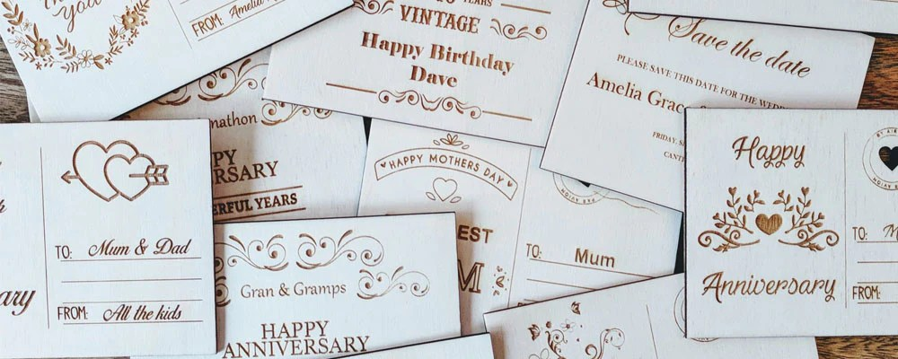 Personalised Wooden Postcards