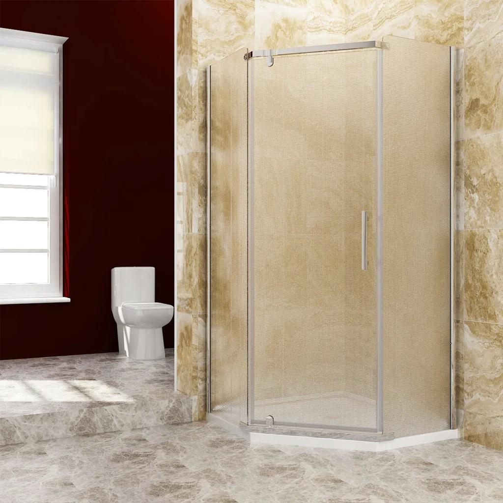 Neo Angle Frameless Shower Door Corner Shower Enclosure
