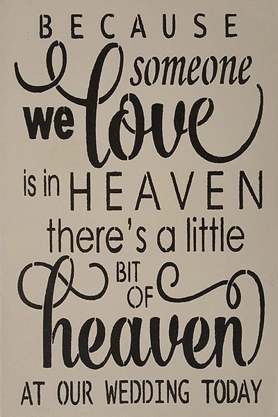 """Download 12"""" x 18"""" Because Someone We Love Is In Heaven - Saras Signs"""