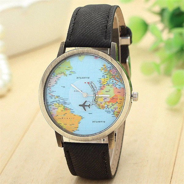 698a7a87896 The Original Time Flies Map Watch Travelers Of Attractions