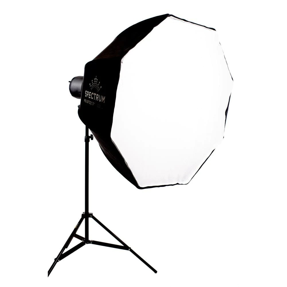 spectrum pro s beam 150 led octagon softbox lighting kit