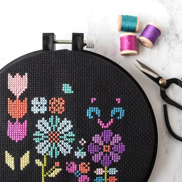 Tips for Cross Stitching on Dark Fabric