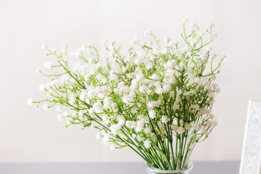 8pcs       32pcs White Baby s Breath Silk Flower Real Touch PVC Silk     8pcs       32pcs White Baby s Breath Silk Flower Real Touch PVC Silk Flowers