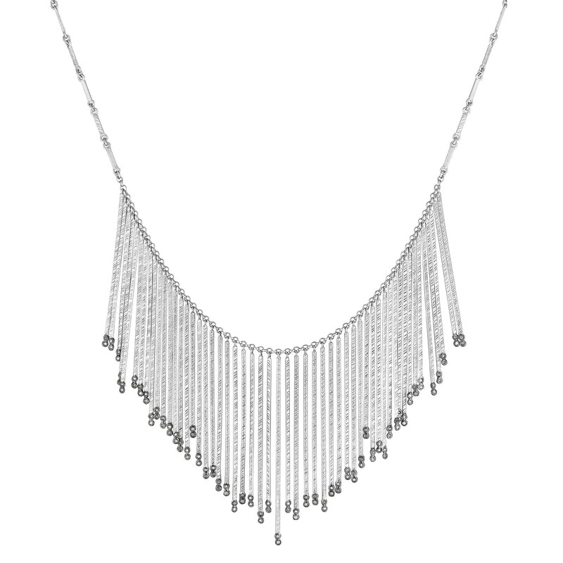 Spring Silver Bib Necklace | Coomi