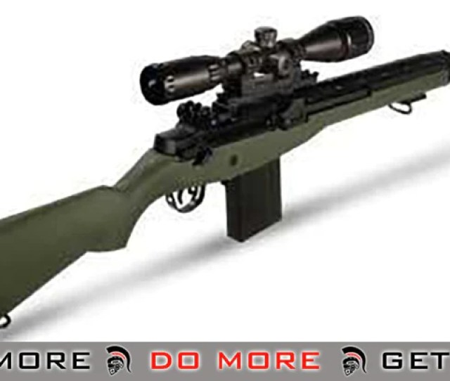 Agm Full Size Mp008 M14 Airsoft Aeg Sniper Rifle W Scope Mount Od Green