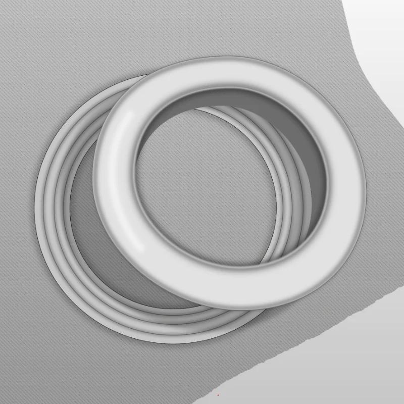 shiny chrome eyelet rings shiny chrome