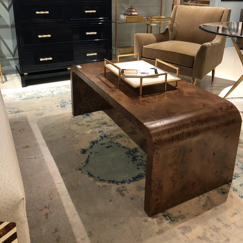newbury coffee table dark burl wood