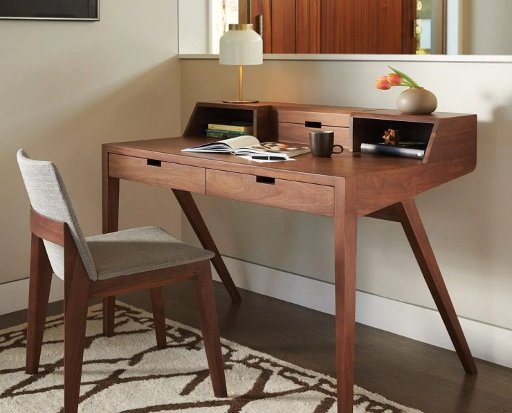 Mid Century Modern Office, Abroma Desk WALNUT - Scandinavian Designs
