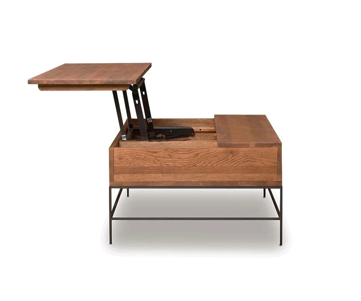 leende lift top storage coffee table