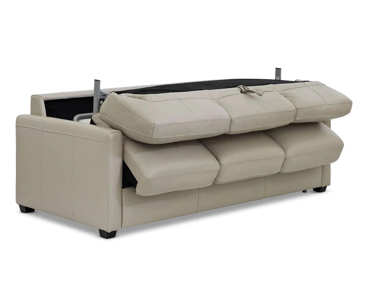 Jonas Leather Queen Sleeper Sofa Scandinavian Designs