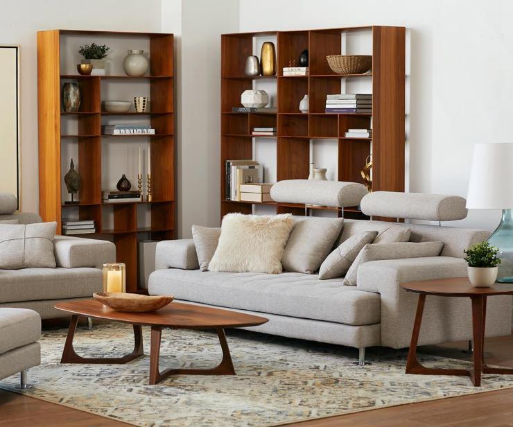 Mid Century Shelving Units, Haldi Bookcase I WALNUT - Scandinavian Designs