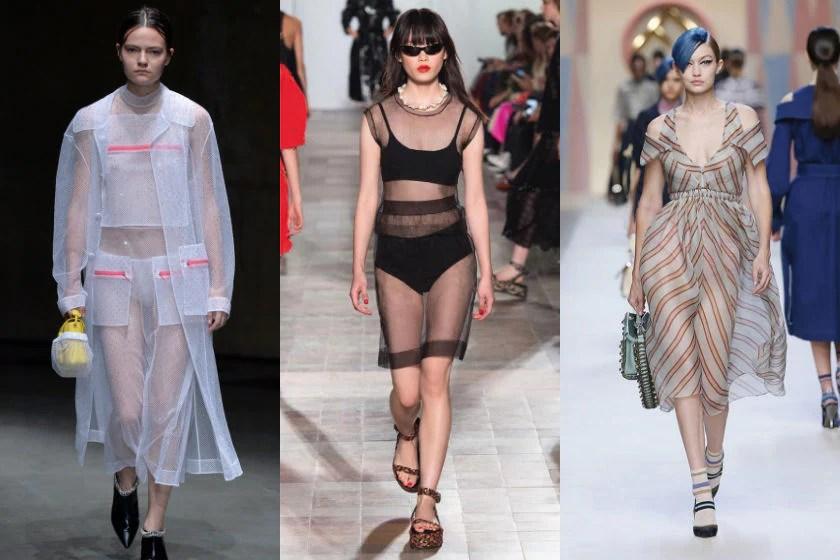Sheer dresses fashion trend spring summer 2018