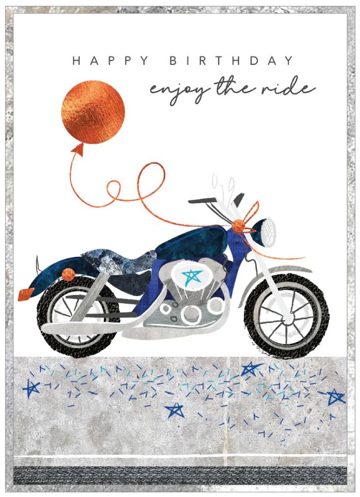 Happy Birthday Enjoy The Ride Motorbike Card Whynot Gallery