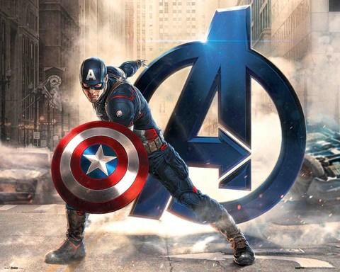 the avengers captain america mini poster