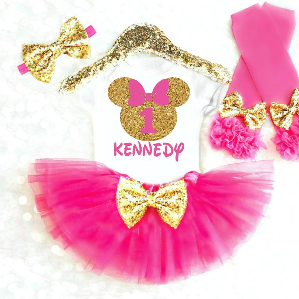 1st Birthday Minnie Mouse Outfit 1st Birthday Ideas