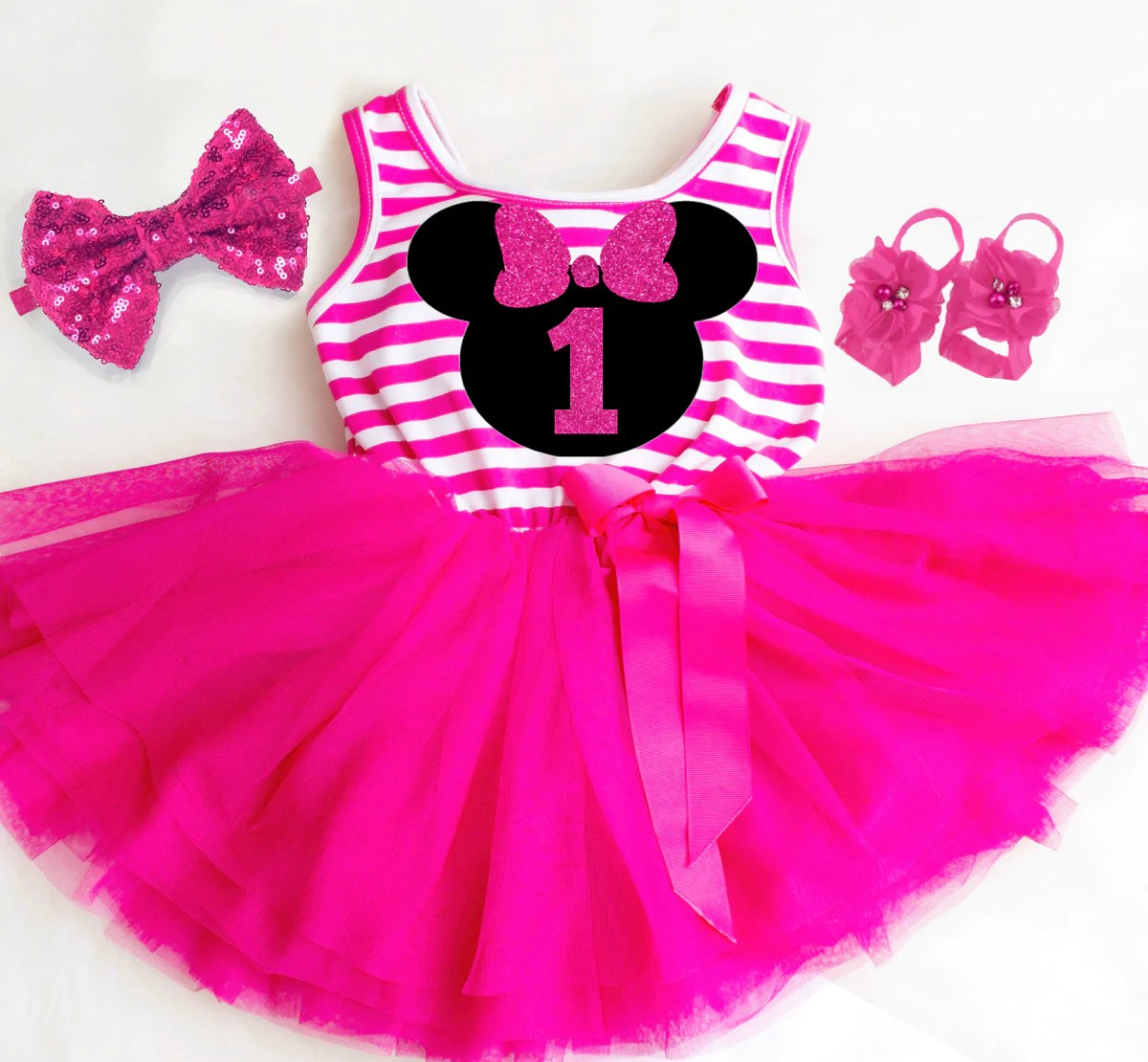 Minnie Mouse Birthday Outfits Minnie Mouse First Birthday Outfits